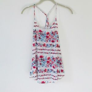 NWOT Urban Outfitters Floral Knit Racerback Tank